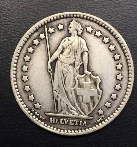 swi268 moneda suiza 1 franc 1931 f plata ayff