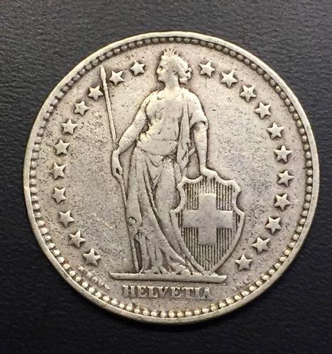 swi278 moneda suiza 2 francs 1920 f plata ayff
