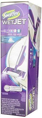swiffer wetjet spray, mop floor cleaner starter kit!