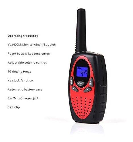 swiftion walkie talkies para niños recargable 22 canales 05