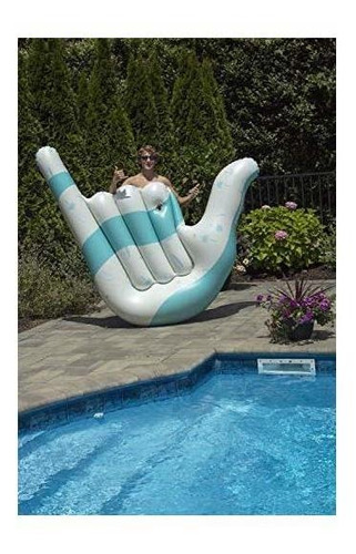 swimline hangloose lounger pool inflatable ride-on, azul, bl
