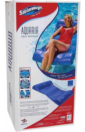 swimways aquaria aqua - hamaca de espuma para piscina, co