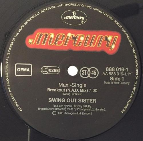swing out sister - breakout (nad mix) vinilo 12 pulgadas