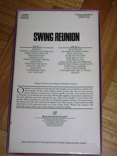 swing reunion. teddy wilson, benny carter, red norvo,