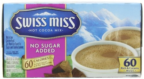 swiss miss hot cocoa mix, chocolate con leche, sin azúcar...