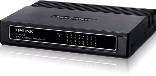 switch 16 puertos tp-link tl-sf1016d de escritorio rj45 ethe