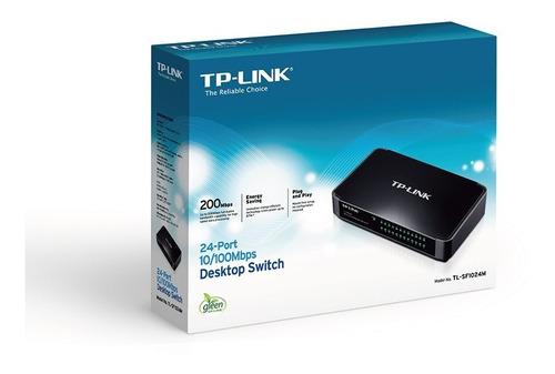 switch 24 puertos tp link sf 1024m sobre mesa 10/100 royal