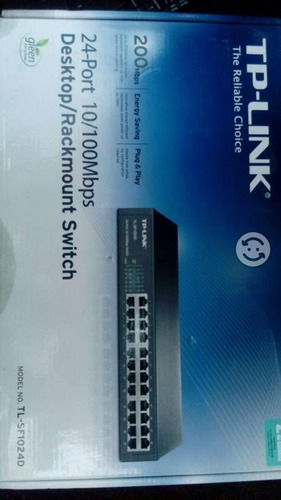 switch 24 puertos tp-link tl-sf1024 10/100 mbps