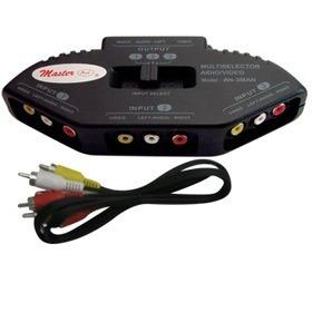 switch 3 puertos av rca video xbox juegos