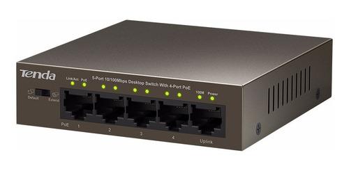 switch 5 puertos 4 poe tenda tef1105p
