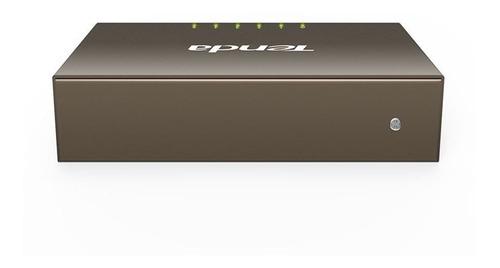 switch 5 puertos gigabit caja metalica teg1005d tenda