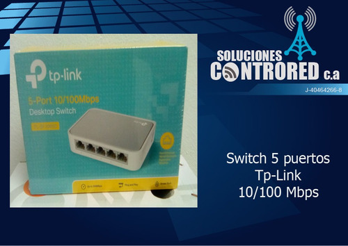 switch 5 puertos tp-link 10/100 mbps 5 años de garantia