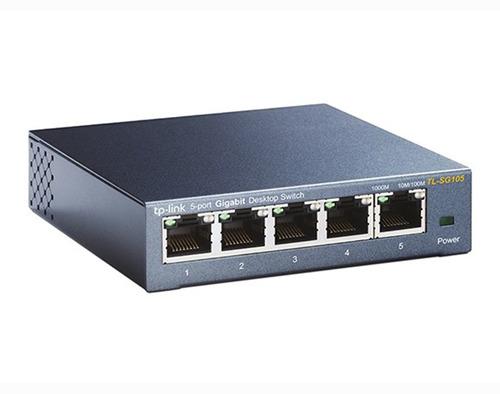 switch 5 puertos tp-link tl-sg105 sg105 gigabit acero