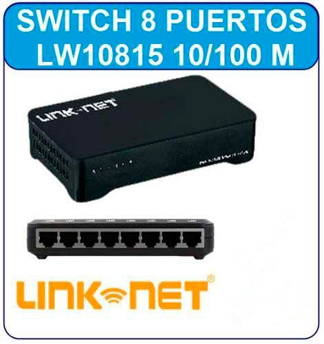 switch 8 puertos 10/100 rj45 internet pc modem red router