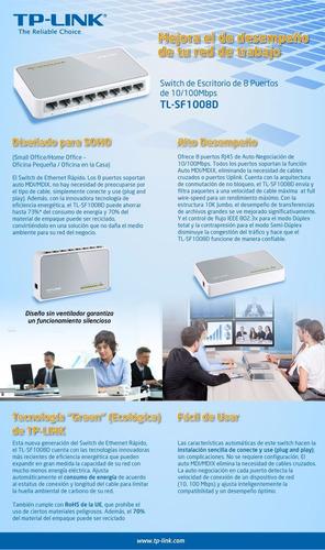 switch 8 puertos 10/100mb tl-sf1008d tp-link