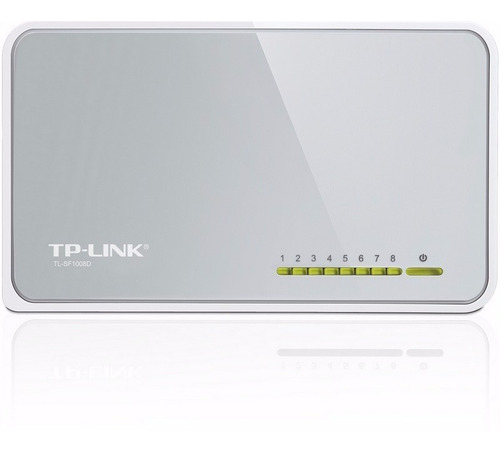 switch 8 puertos tp-link tl-sf1008d 10/100 mbps - slot one