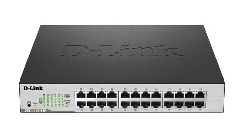 switch administrable d-link smart dgs-1100-24p lan gbe+poe
