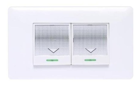 switch apagador inalambrico doble a control remoto placa