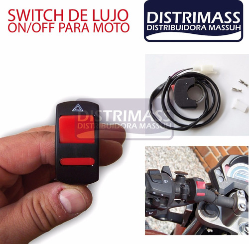 switch boton para moto para barra led faro u7 halogeno y mas