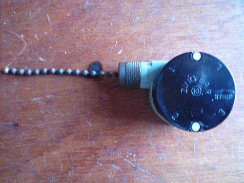 switch cadena 3 velocidades para ventilador techo