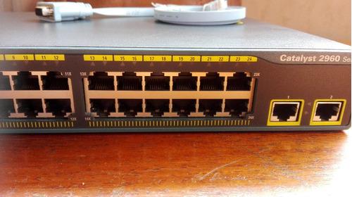 switch cisco 2960 series 24 puertos, 2 puertos gigabyte