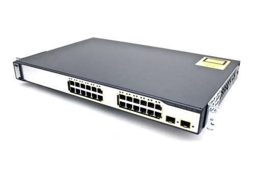 switch cisco 3750 24 ps-e layer 3 - com 6 meses de garantia