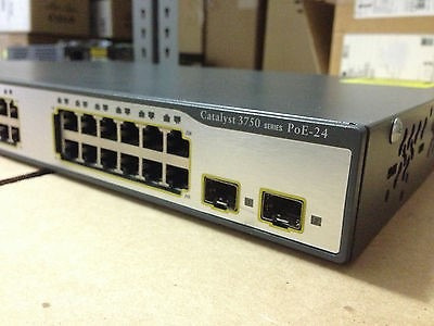 switch cisco 3750 24 ps-e layer 3 - com 6 meses de garantia