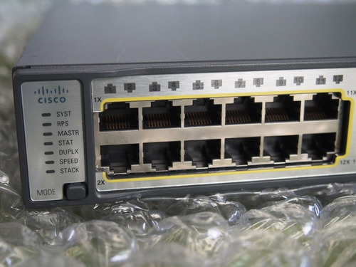 switch cisco 3750e 48 pd-ef  fonte 1150wac 48x poe 2x 10g
