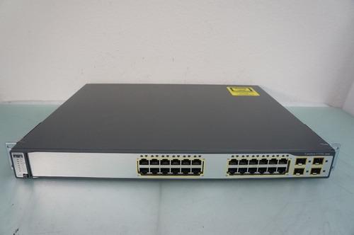 switch cisco 3750g 24 ts-e 1u layer 3 - 6 meses de garantia