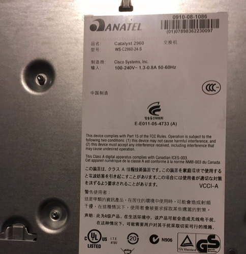 switch cisco  catalyst 2960