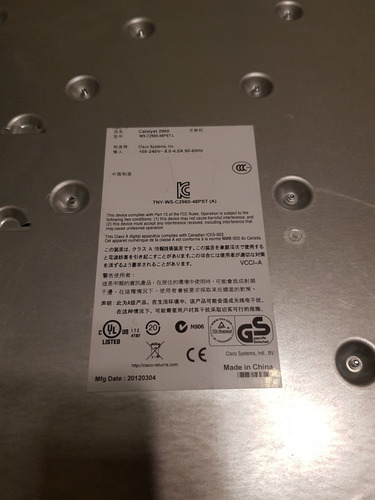 switch cisco catalyst 2960 ws-c2960-48pst-l 48 puertos poe