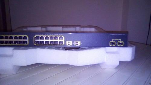 switch cisco. mc. 3750. 24. -te- m para.  redes metro