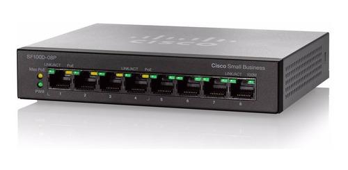 switch cisco sf110p 8 puertos 10/100 poe no adm sf110-08p