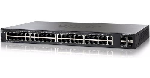 switch cisco sg220-50-k9-na 50 puertos smart plus para fibra