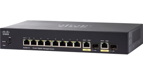 switch cisco sg350-10 gigabit full administrable sfp