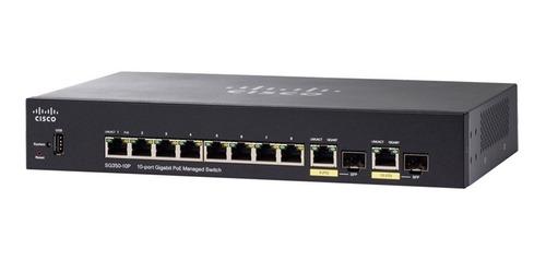 switch cisco sg350-10p-k9-na gigabit full administrable poe
