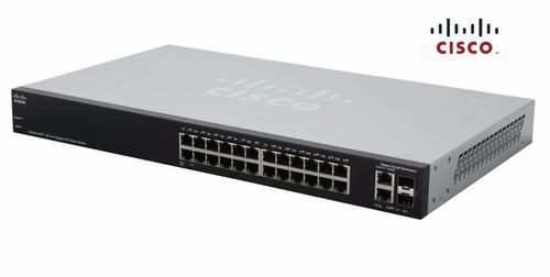 switch cisco smb sg220-26p-k9 adm. l2 24 puertos poe gigabit