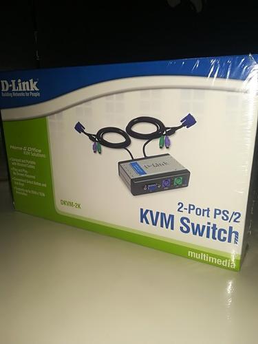 switch d-link 2port ps/2 nuevo de paquete