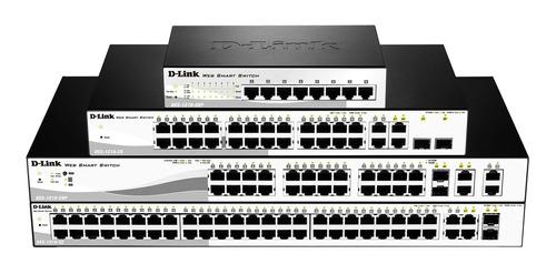 switch d-link 8-puertos gigabit + 2 sfp, poe dgs-1210-10p