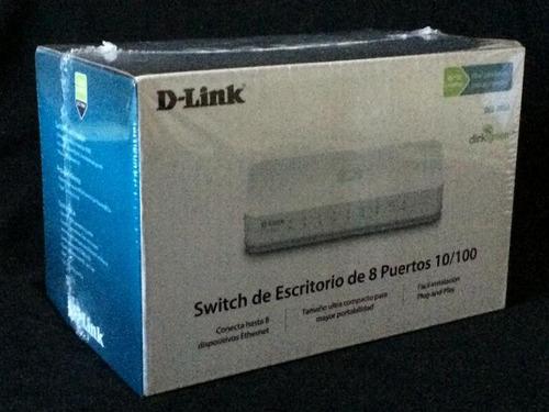 switch d link de 8 puertos 10/100