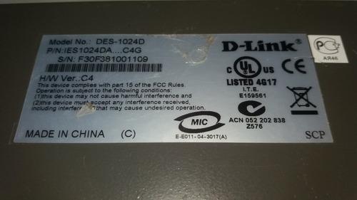switch d-link des 1024d 10/100 mbps fast ethernet #1777