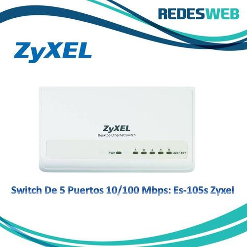 switch de 5 puertos 10/100 mbps: es-105s zyxel