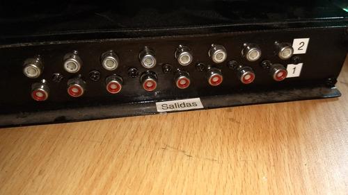 switch de 8 entradas de video y 16 salidas