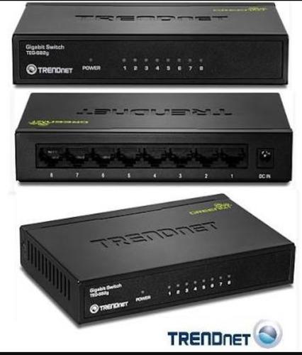 switch de 8 puertos greennet de gigabitteg-s82g