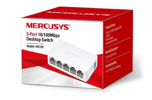 switch de escritorio de 5 puertos 10/100mbps, mercusys ms105
