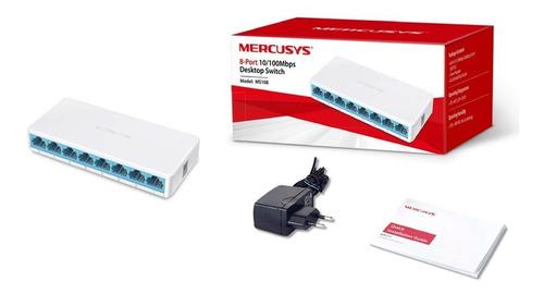 switch de red mercusys 8 puertos ms108 10/100mbps escritorio