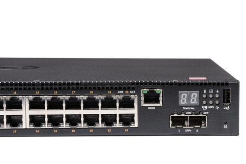 switch dell n2024p l3 admin 24 puertos poe+ gigabit + 2 sfp