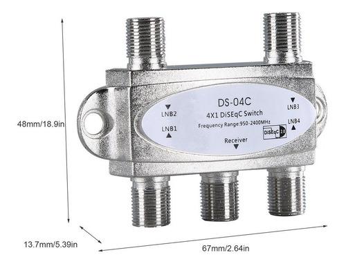 switch diseqc 2.0 4x1 banda c ku antena satelital con envio
