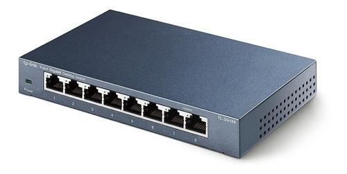 switch escritorio 8 puertos tp link tl sg108 gigabit cuotas