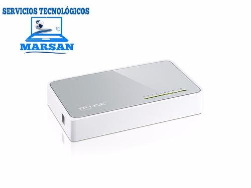 switch ethernet 8 puertos escritorio mini 10/100mbps tp-link